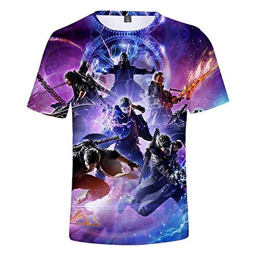 CCTXUE Camiseta T-Shirts Impresión 3D Neutro Hombres Mujeres Ventilación De Secado Rápido Suave Cuello Redondo Manga Corta Tops Deadpool XS