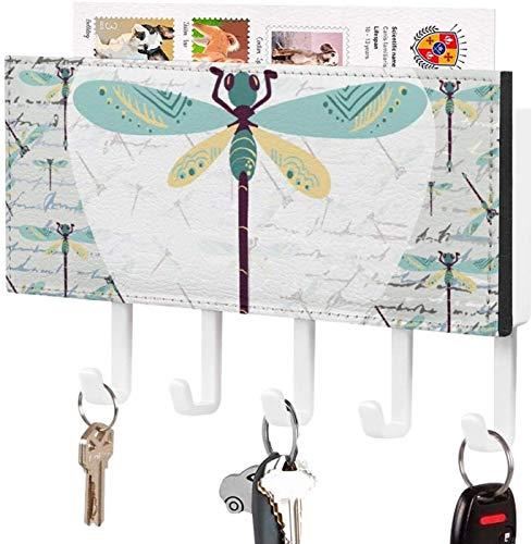 Gancho para llaves montado en la pared, clasificador de correo, organizador para llaves de correo de montaje en pared, árbol, naturaleza, noche, horizonte, paisaje, decoración del hogar para la habit