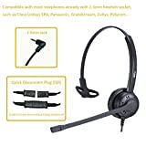 Best SE Cordless Phones - Call Center Telephone Headset 2.5mm Office Phone Headset Review