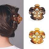 Runmi Pinzas para el pelo con forma de carey para el pelo con forma de mariposa antideslizantes para mujeres y niñas (paquete de 2)