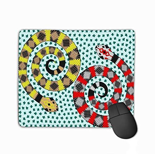 Rutschfester dicker Gummi Große Mousepad-Schlangen-Karten-Anzug-Muster Zwei abstrakte Schlangen-Spaten-Club-Haut-Hintergrund-Sterne