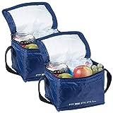 PEARL Kühltasche klein: 2er-Set isolierte Mini-Kühltaschen mit Tragegurt, je 2,5 Liter (Kühlboxen)