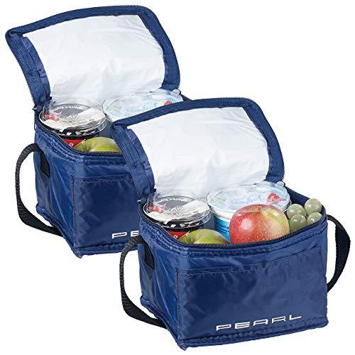 PEARL Kleine Kühltasche: 2er-Set isolierte Mini-Kühltaschen mit Tragegurt, je 2,5 Liter (Thermotaschen)