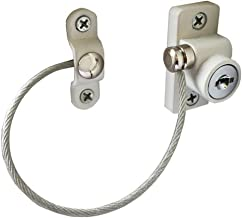 JHKJ Window Door Restrictor Child Baby Safety Security Locking Cable Wire Lock 4 Pcs,White