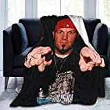 Lvanover 3D Printing Flannel Plush Colorful Throw Blankets,Limp Bizkit Fred Durst Weighted Blankets for Couch,Super Warm Spring Lightweight Air Conditioner Quilt 50'X40'