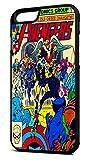 Customcases The Avengers DC Marvel Super-héros Comic Coque Vintage Noir Cas de Téléphone En Caoutchouc Pour iPhone 7