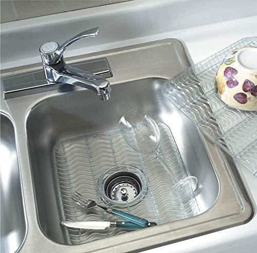 Rubbermaid Sink Mat, Medium, Clear FG129506CLR (2-Pack)