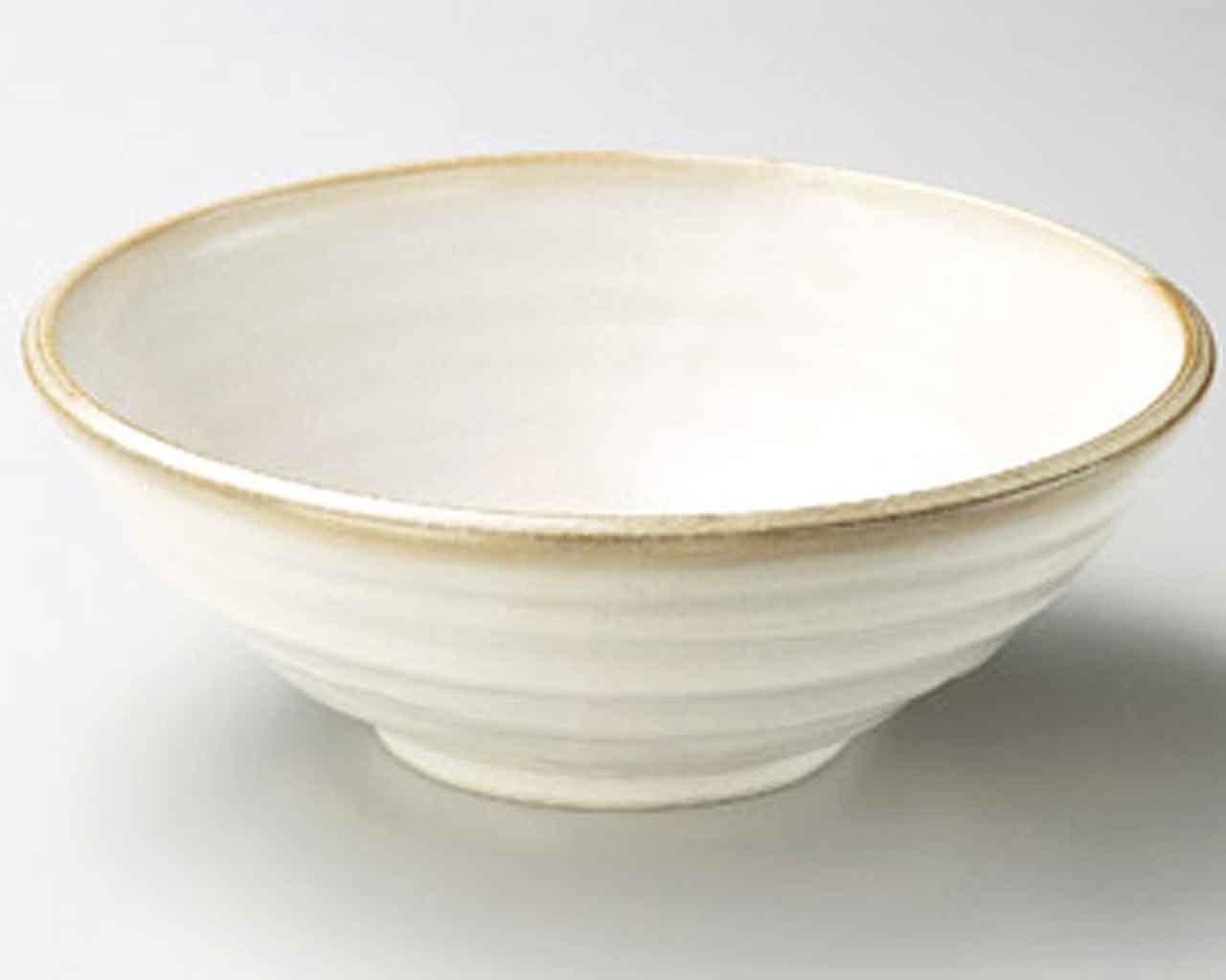 Kobiki Arabiki 9.3inch Large Bowl porcelain Price reduction Japan in Columbus Mall Beige Made