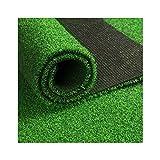 ALYR Gazon Artificiel Moquette, Herbe Dog Mat Pad Support en Caoutchouc Tapis Type Tapis d'herbe pour Balcon/terrasse/Jardin etc Hige 15mm,Green_12x24ft/4x8m