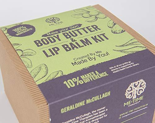 Make your Own Body Butter&Lip Balm Kit/Gift Set/Craft kit (vegan, ethical,...