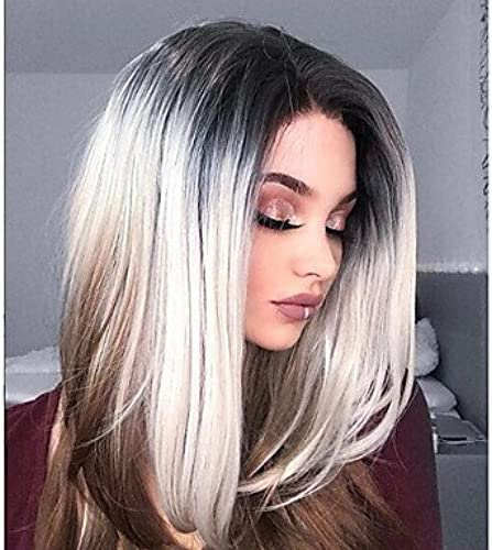 , leichte Damen-Perücke, Kunsthaar, lang, gerade, natürlicher Haaransatz, Haarschnitt, Kostüm-Perücke