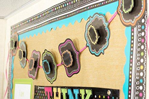 Teacher Created Resources Chalkboard Brights Straight Border Trim (5619) Photo #2