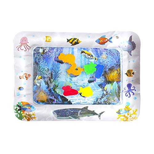 Jonerytime_Bathroom Products JonerytimeInflatable Baby Water Mat Fun Activity Play Center for Children & Infants (D)