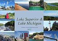 """Lake Superior & Lake Michigan (Wandkalender 2022 DIN A3 quer): Impressionen aus der Region der """"Great Lakes"""" (Monatskalender, 14 Seiten )"""