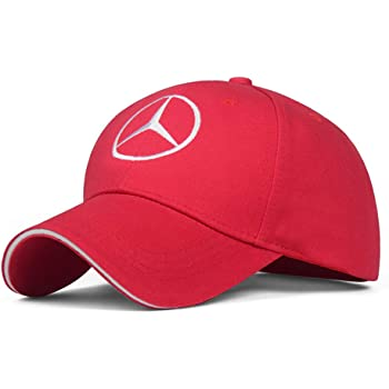 CCBaseball Car Logo Adjustable Baseball Cap, Unisex Hat Travel Cap Car Racing Motor Hat for Benz (Red)