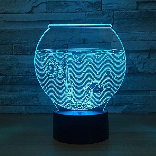 Acuario Forma acrílico luz de Noche luz Deslizante luz de Noche lámpara de Mesa decoración del hogar atmósfera decoración lámpara