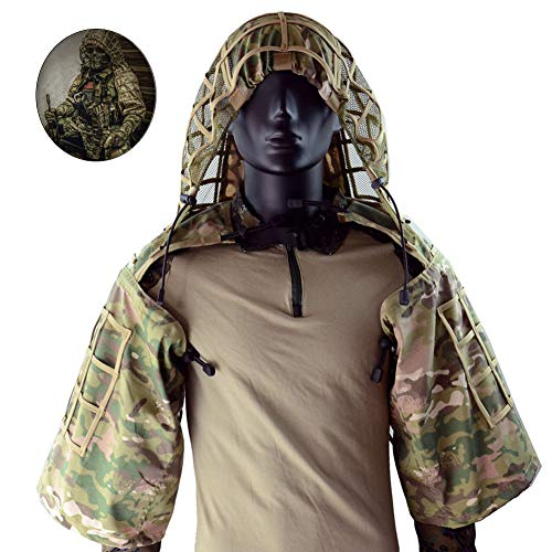 Cyberdyer top Sniper Ghillie wear-resistant camouflage militare giacca per fan Army Tactical Airsoft Paintball, CP