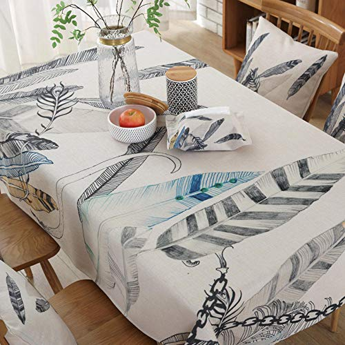 Creek Ywh tafelkleedenset met tafelkleed en servetten tafelloper voor feestjes en verjaardagen, tafelkleed van stof, tafelkleed van katoen, rechthoekig, tafelkleed IKEA tafelkleed rond
