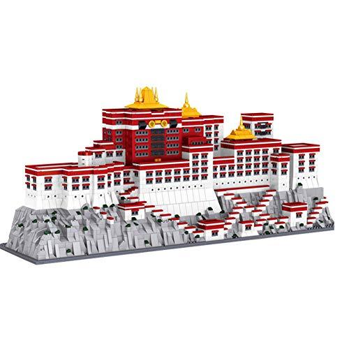 LNLJ World Architecture Model Brick Children's Toy, China Tibet Architecture Potala Palac 3D Model, Mini Building Blocks Gift (3649PCS)