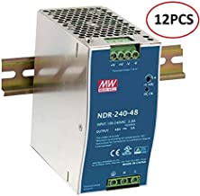 [PowerNex] Mean Well NDR-240-48 12PCS/ Box 24V 10A 240W Single Output Industrial DIN Rail Power Supply