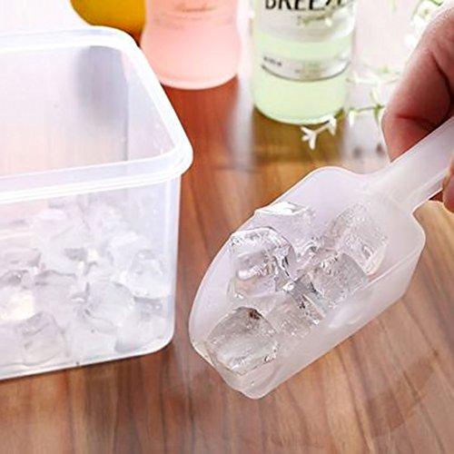 HANSGO Ice Scoops, 12PCS Plastic Scoop Acrylic Candy Scoop Small Measuring Scoop Mini Ice Cream Scoop for Kitchen Wedding