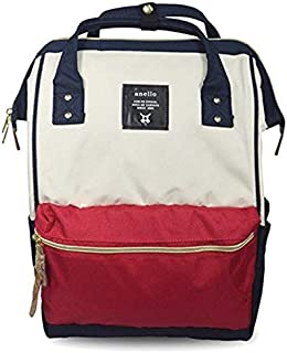 Japan Anello Backpack Unisex LARGE MIX-F Rucksack Waterproof Canvas Bag Campus