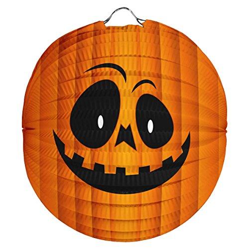 1x Laterne aus Papier * KÜRBIS * für Halloween oder Motto-Party // Deko Party Fete Set Mottoparty Motto Kürbis Kinder Kindergeburtstag Geburtstag Lantern Pumpkin