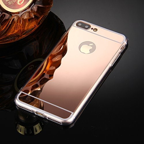 ZHANGYOUDE For iPhone 8 Plus y 7 Plus Funda de Cubierta Protectora de TPU de galvanoplastia (Color : Rose Gold)
