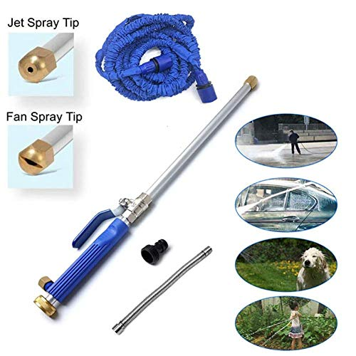 ZXD Hochdruck Wasserlanze Strahlrohr Wasser Spritzpistole ideal zum Waschen von Autos Bewässerung von Garten und Rasen Terrassen Gehwegen und Garage,Blau