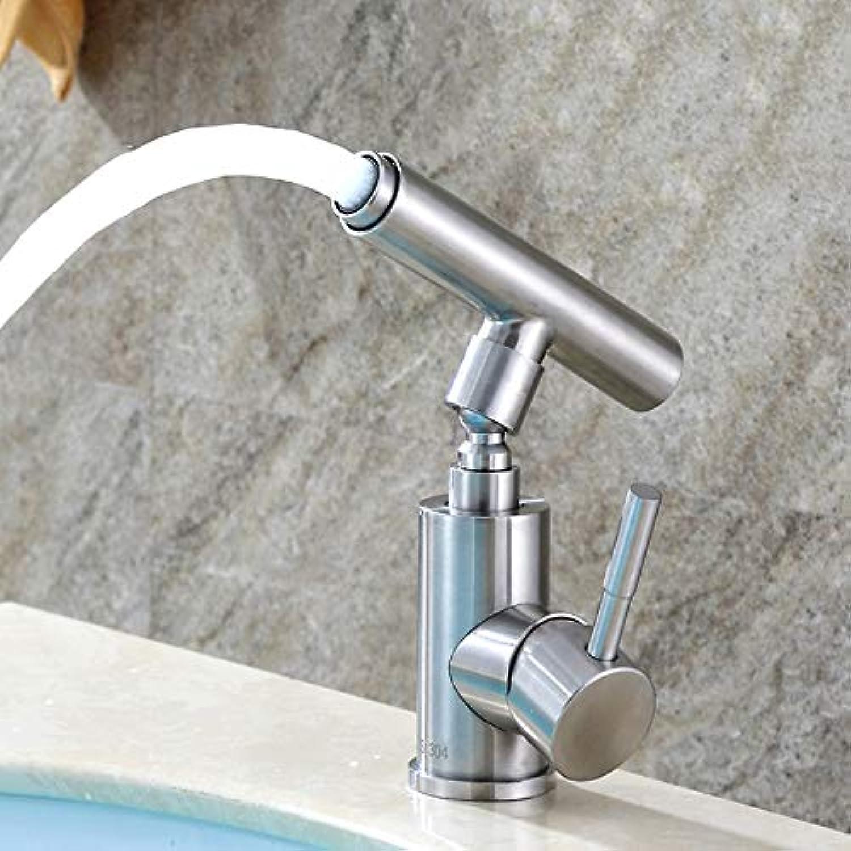 The only good quality Langlebig 304 Wasserhahn Bad wc Edelstahl kreative heien und kalten Wasserhahn edelstahlbecken drehbaren Wasserhahn praktisch