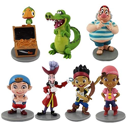 EASTVAPS 7pcs / Set Jake The Neverland Pirates Anime Cartoon PVC Figura de acción de Juguete