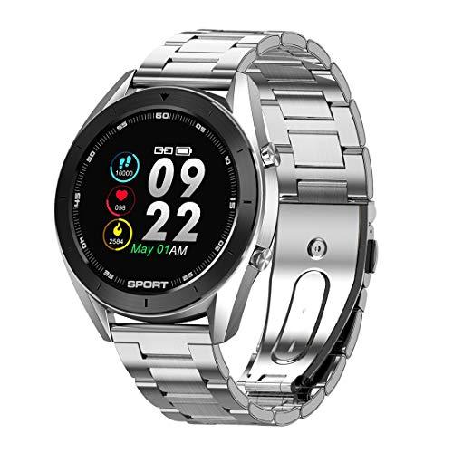 MMFFYZ Reloj Inteligente con Pantalla Táctil, Reloj Inteligente para Hombres Y Mujeres, Monitor De Ritmo Cardíaco, Rastreador De Ejercicios, Pulsera Inteligente, Podómetro De Presión(Color:D)