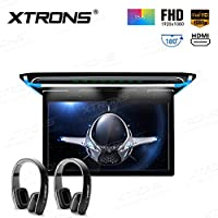 XTRONS FHD Ultrafino de 15,6pulgadas Digital TFT pantalla coche Overhead Monitor de Techo reproductor de vídeo de 1080p HDMI PUERTO