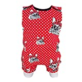 Eve Couture Babykleidung Baby Strampler Frenchie Love Mädchen Rockabilly Punkte rot (80/86)