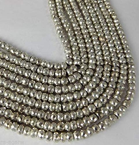 LOVEKUSH LKBEADS Max 43% SEAL limited product OFF Elegant Natural Gemstone Faceted Pyrite Silver