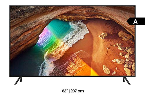 Samsung Q60R 207 cm (82 Zoll) 4K QLED Fernseher (Q HDR, Ultra HD, HDR, Twin Tuner, Smart TV) [Modelljahr 2019]