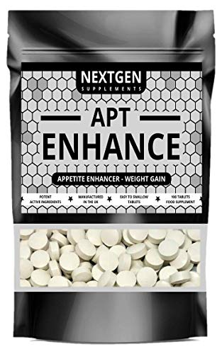 APT Enhance Appetite Enhancer Stimulant - Max Strength Appetite Boosting Pills - Proven Natural Formula - Helping You to Eat More & Gain Weight | 100 Tablets
