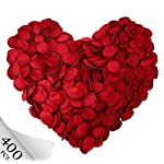 Silk Flower Arrangements Neo LOONS Premium Artificial Silk Rose Petals Flower Girl Scatter Petals for DIY Wedding Aisle Centerpieces Table Confetti Party Favors Home Decoration, Dark Red 400pcs
