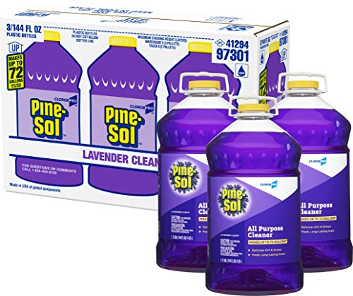 Pine-Sol CloroxPro All Purpose Cleaner, Lavender Clean, 144 Ounces Each (Pack of 3) (97301) (Package May Vary)
