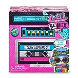 L.O.Surprise, Remix Pets - Lecteur K7 avec 9 Surprises Dont 1 Pets 6cm, vêtements, Cheveux, Paroles, Fonction Eau Suprise, Modèles Aléatoires à Collectionner, Jouet pour Enfants dès 3 Ans, LLX00