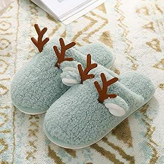 Huafeng Gli Uomini e Le Donne a casa Pantofole di Cotone Caldo Inverno a casa Spessa Skid Teddy Peluche di Velluto di Nata...