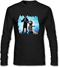 IIOPLO Men's The Hitchhikers Guide To The Galaxy Long Sleeve T-shirt Black XXL