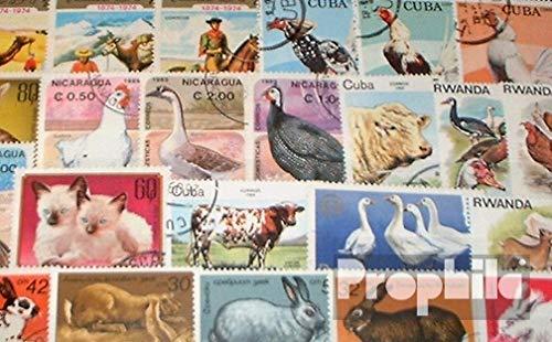 Prophila Collection Motive 100 Verschiedene Haustiere Marken (Briefmarken für Sammler) Säuger Sonstige