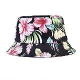 AUNG CROWN Bucket Floral Printed Fisherman Hats Sun Summer Beach Hats Caps