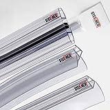 STEIGNER Juego de juntas de mamparas de ducha semicirculares para vidrio de 6-8 mm: 100cm semicirculares UK09 + Set 4