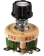 Una sola vuelta resistencia de 50 Ohm 25W ajustable de la forma cónica de cerámica disco reostatos