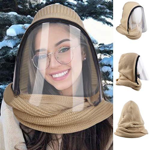 Weichuang - Pañuelo de cara completa, para deportes al aire libre, bufandas transparentes con...