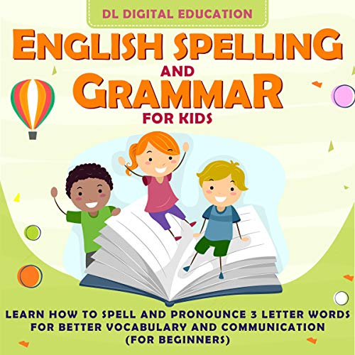 English Spelling and Grammar for Kids audiobook cover art
