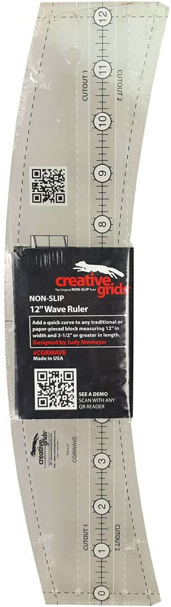 Creative Grids Wave Quilt Las Vegas Mall - Ruler CGRWAVE 12in Max 56% OFF