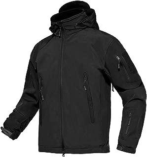 Men's Tactical Concealed Hooded Softshell Fleece Military Jacket Coat
